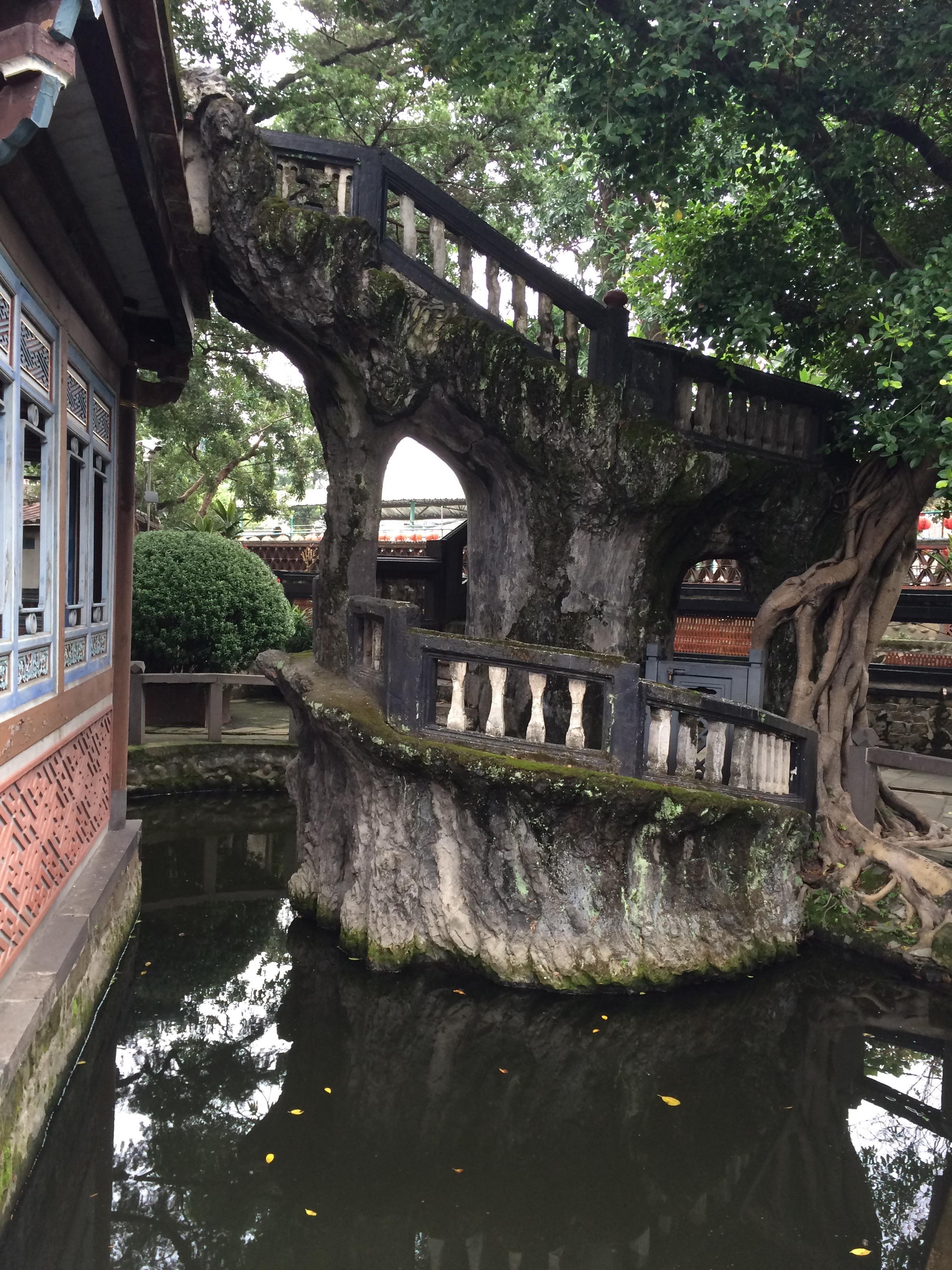 Spiral staircase in Taipei Garden