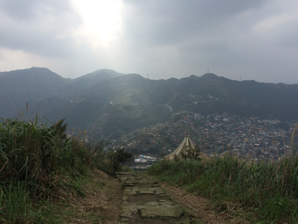 Look at JiuFen from Keelung Mountain
